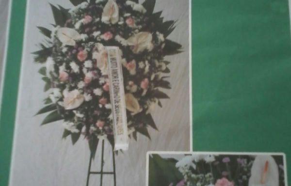Coroa de Flores de Antúrios